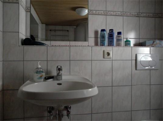 Frontalansicht Waschbereich